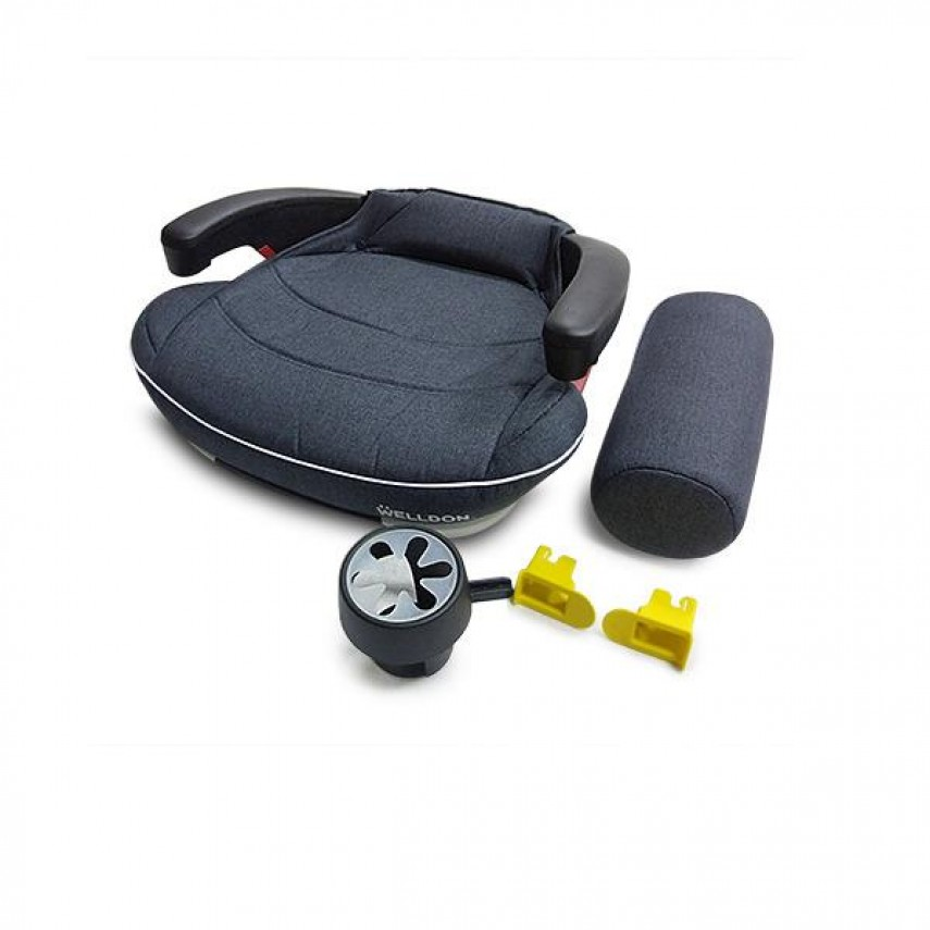 Автокрісло бустер Welldon Travel Pad IsoFix (графітовий) PG09-TP95-001